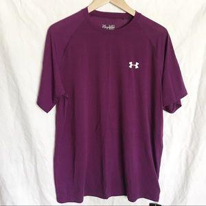 UNDER ARMOR PERFORMANCE HEAT GEAR Shirt Purple M
